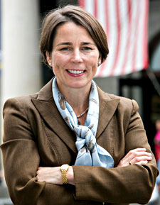 Photo of Massachusetts Attorney General Maura Healey - smiling with arms crossed